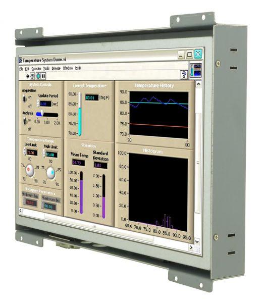 Front-right-WM 10W-V-OF-PRS / TL Produkt-Welten / Industriemonitor / Open Frame (Einbau von hinten) / Touch-Screen für 1-Finger-Bedienung