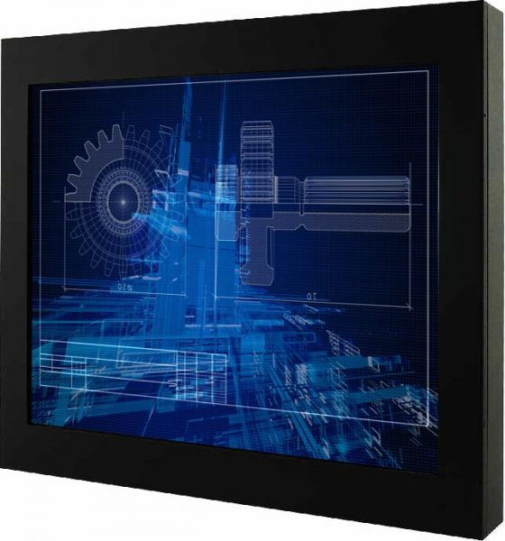 Front-right-WM 17-VDP-CH-GS / TL Produkt-Welten / Industriemonitor / Chassis (VESA-Mounting) / ohne Touch-Screen
