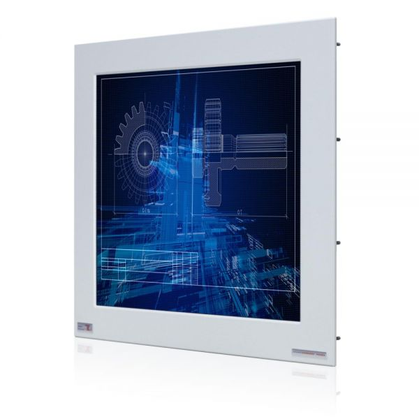 01-Front-right-WM19PMA-IP65 / TL Produkt-Welten / Industriemonitor / Panel Mount (Einbau von vorne) / Touch-Screen für 1-Finger-Bedienung