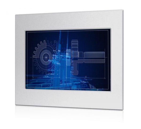 01-Front-WM12PMA-IP65 / TL Produkt-Welten / Panel-PC / Panel Mount (Einbau von vorne) / Touch-Screen für 1-Finger-Bedienung