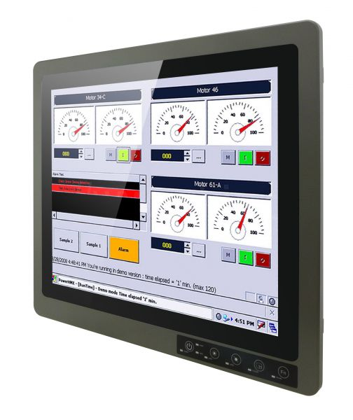 Front-right-R19IK3S-67FTP / TL Produkt-Welten / Panel-PC / Chassis (VESA-Mounting) / Multitouch-Screen, projiziert-kapazitiv (PCAP)