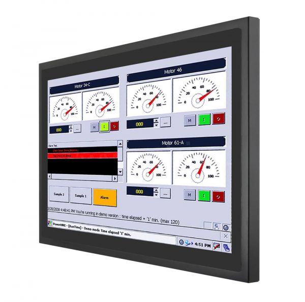 01-Front-right-WM22-VD-CH-MTU / TL Produkt-Welten / Industriemonitor / Chassis (VESA-Mounting) / Multitouch-Screen, projiziert-kapazitiv (PCAP)
