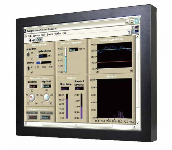 Front-right-WM 19-VDP-CH-GS / TL Produkt-Welten / Industriemonitor / Chassis (VESA-Mounting) / ohne Touch-Screen