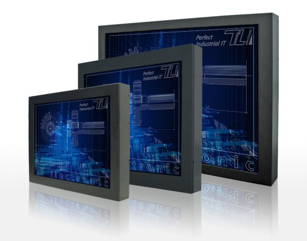 01-Front-right-W32L300-CHA3 / TL Produkt-Welten / Industriemonitor / Chassis (VESA-Mounting) / Touch-Screen für 1-Finger-Bedienung