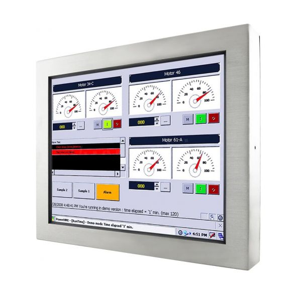 01-Front-right-R15IB3S-65C3 / TL Produkt-Welten / Panel-PC / Chassis Edelstahl (VESA-Mounting) / Touch-Screen für 1-Finger-Bedienung