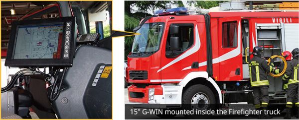 01-Front-right-R10IB3S-GST2 / TL Produkt-Welten / Panel-PC / Chassis (VESA-Mounting) / Multitouch-Screen, projiziert-kapazitiv (PCAP)