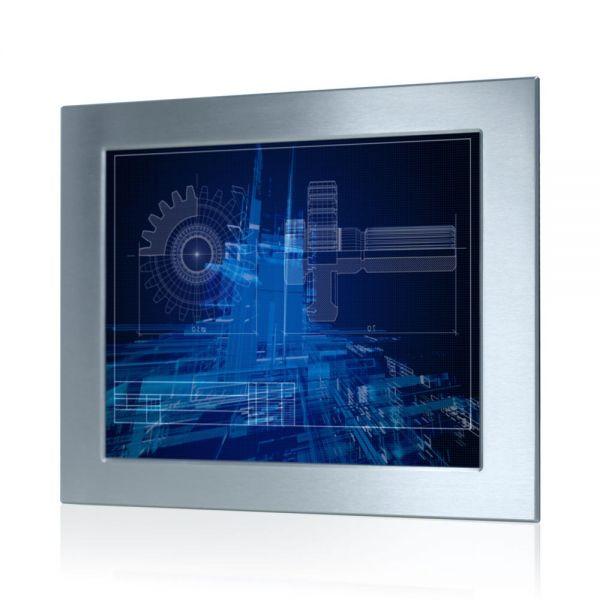 01-Front-WM19PME-IP65 / TL Produkt-Welten / Industriemonitor / Panel Mount (Einbau von vorne) / Touch-Screen für 1-Finger-Bedienung