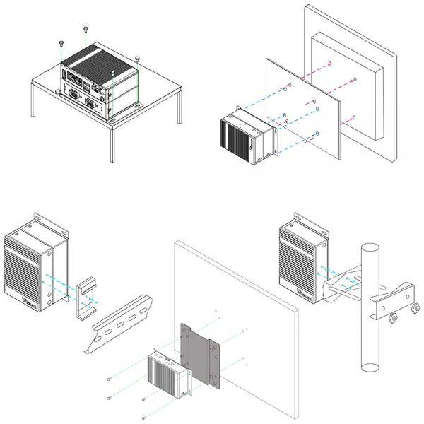 03-Mounting-Din-Rail-VESA-EACIL20 / TL Produkt-Welten / Industrie-PC / Embedded-PC