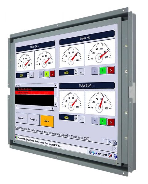 Front-right-WM 17-VDP-OF / TL Produkt-Welten / Industriemonitor / Open Frame (Einbau von hinten) / ohne Touch-Screen