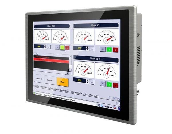 01-PCAP-Multitouch-Industrie-Panel-PC-R19ID7T-PPA1 /  TL Produkt-Welten / Panel-PC / Panel Mount (Einbau von vorne) / Multitouch-Screen, projiziert-kapazitiv (PCAP)