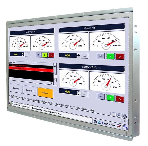 21-Front-right-W22IH7T-OFA3 / TL Produkt-Welten / Panel-PC / Open Frame (Einbau von hinten) / ohne Touch-Screen