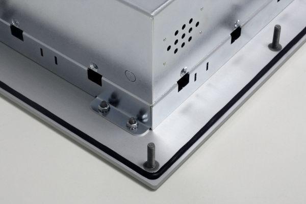 01-Front-right-WM15PMA-IP65 / TL Produkt-Welten / Panel-PC / Panel Mount (Einbau von vorne) / Touch-Screen für 1-Finger-Bedienung