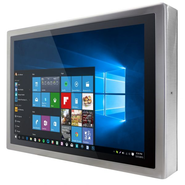 01-R19L100-SPM169-Front-right / TL Produkt-Welten / Industriemonitor / Chassis (VESA-Mounting) / Multitouch-Screen, projiziert-kapazitiv (PCAP)