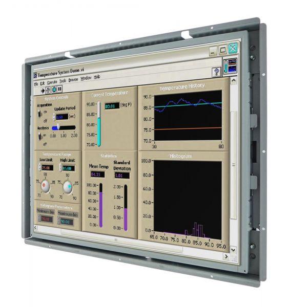 Front-right-WM 19-VDP-OF-PRU / TL Produkt-Welten / Industriemonitor / Open Frame (Einbau von hinten) / Touch-Screen für 1-Finger-Bedienung