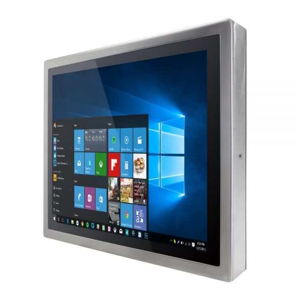 01-Front-right-R19IB3S-SPM1 / TL Produkt-Welten / Panel-PC / Chassis Edelstahl (VESA-Mounting) / Multitouch-Screen, projiziert-kapazitiv (PCAP)