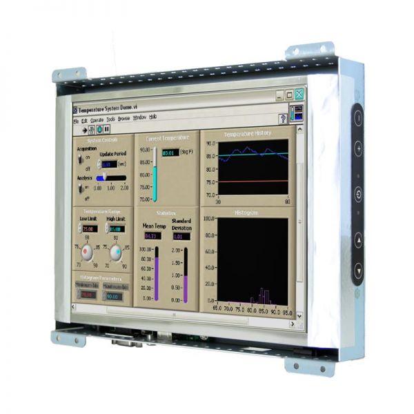 Front-right-WM 10-V-OF-PRS / TL Produkt-Welten / Industriemonitor / Open Frame (Einbau von hinten) / Touch-Screen für 1-Finger-Bedienung