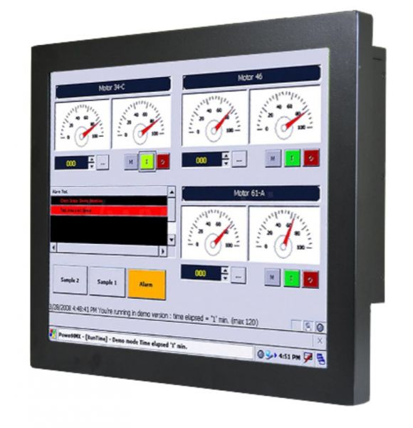 01-Chassis-Industrie-Panel-PC-R17IF7T-CHM1 / TL Produkt-Welten / Panel-PC / Chassis (VESA-Mounting) / Touch-Screen für 1-Finger-Bedienung