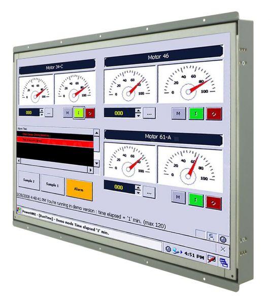 Front-right-WM 22W-VDP-OF-PRS / TL Produkt-Welten / Industriemonitor / Open Frame (Einbau von hinten) / Touch-Screen für 1-Finger-Bedienung