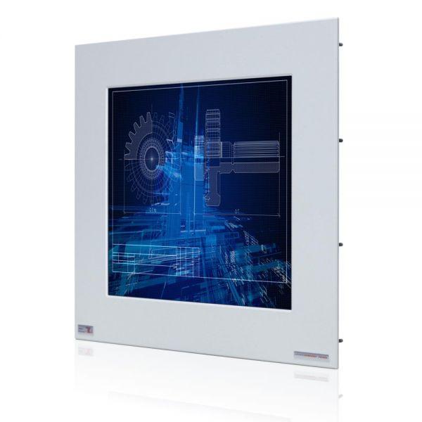 01-Front-right-WM17PMA-IP65 / TL Produkt-Welten / Industriemonitor / Panel Mount (Einbau von vorne) / ohne Touch-Screen